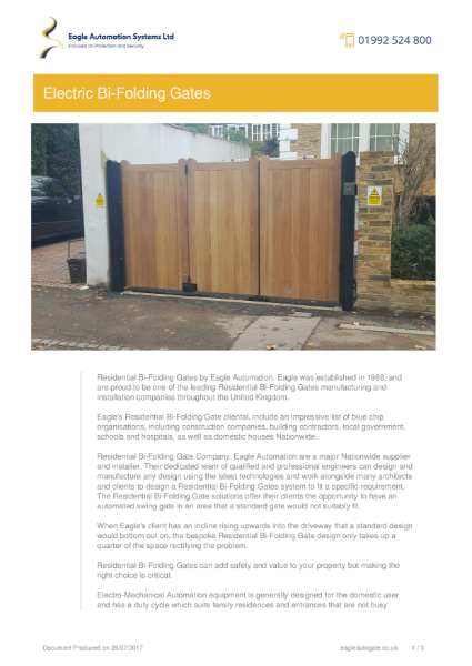 Residential Bi-Folding Gates