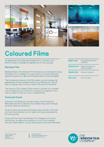 Film Types - Coloured Films