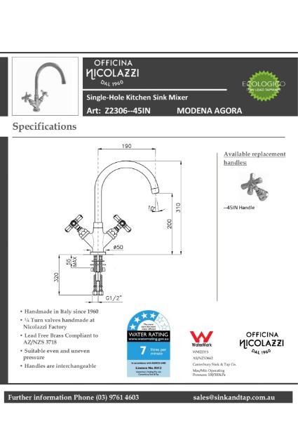 Z2306 Modena Agora technical specification