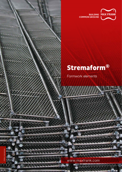 Stremaform - formwork elements for construction joints