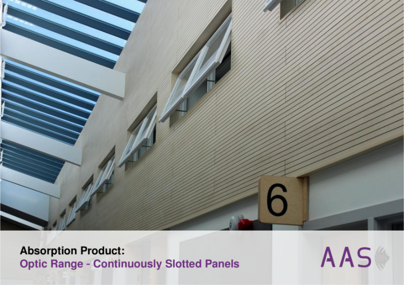 Optic - Continuously Slotted Acoustic Panels