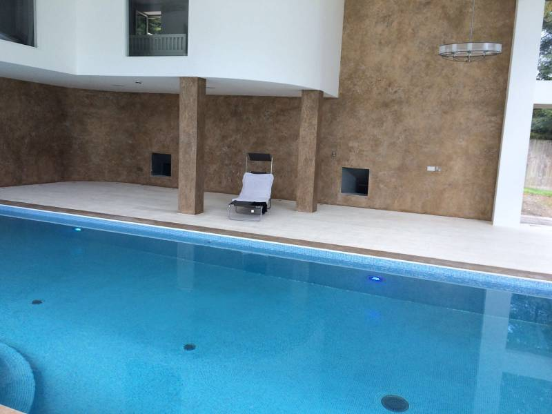 Polished Plaster in Residential Swimming Pool