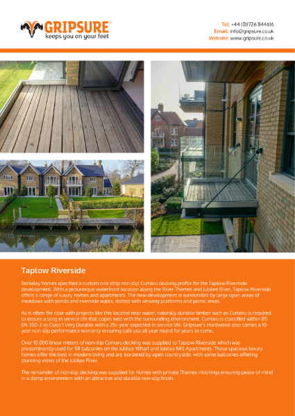 Non-slip decking case study: Balconies