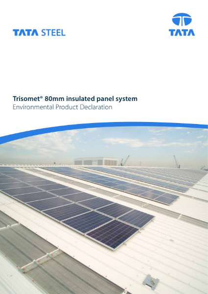 EPD Trisomet 80mm insulated panel ROW