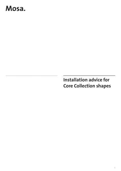 18. Installation advice for Core Collection Shapes