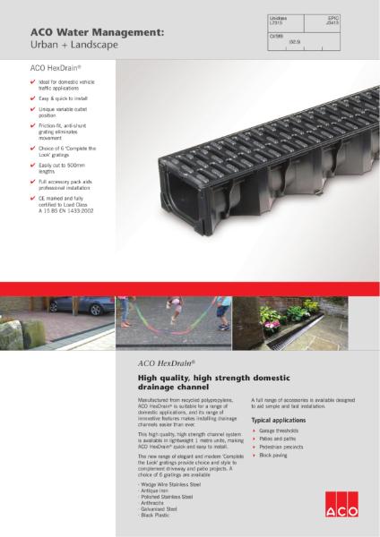 ACO HexDrain brochure