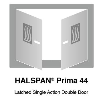 HALSPAN® Prima 44 mm Internal Fire Rated Door Blank - Latched Single Acting Double Doors