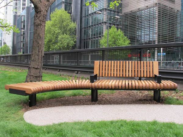 Straight & curved seating for busy public realm