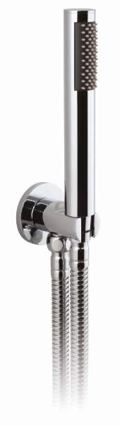 Round Mini Shower Kit with Integrated Outlet