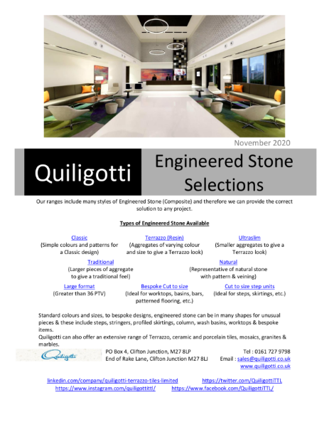 Quiligotti Engineered Stone/Composite Selections