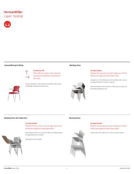Caper Multipurpose Chair - Adjustment Guide