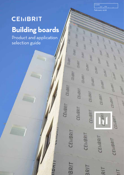 Cembrit building board product and application selection