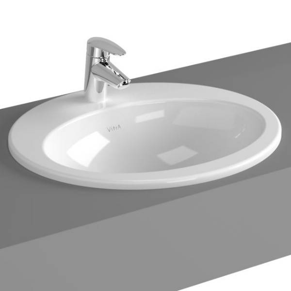 VitrA S20 Counter-top Basin, 53 cm, Oval, 5468