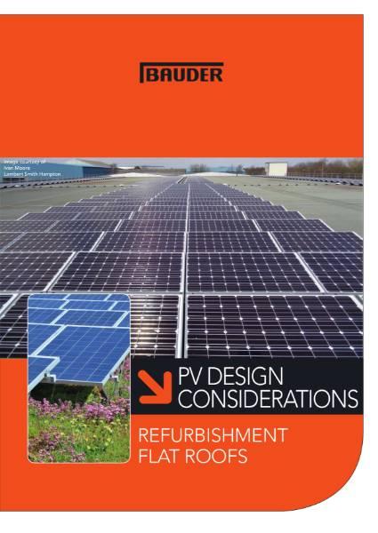 PV Design Considerations - Refurbishment - Bauder
