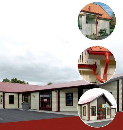 Rainline Dark Red Gutters