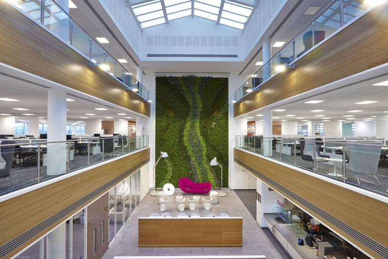 Centrica Offices Living Wall, Oxford