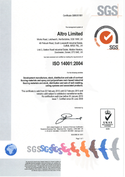 ISO 1400: 2004 Certificate