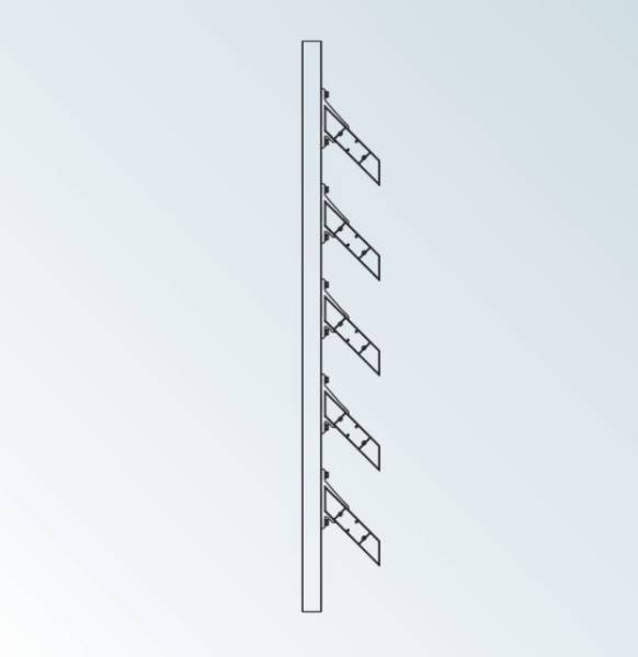 Aluminium brise-soleil louvre blades