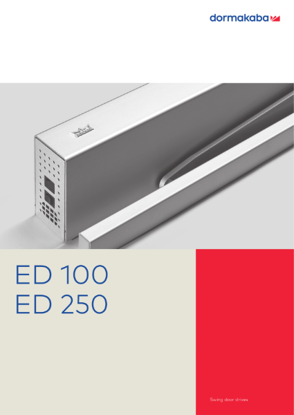 ED 100 A - 250 A - Automatic Swing Door Operators