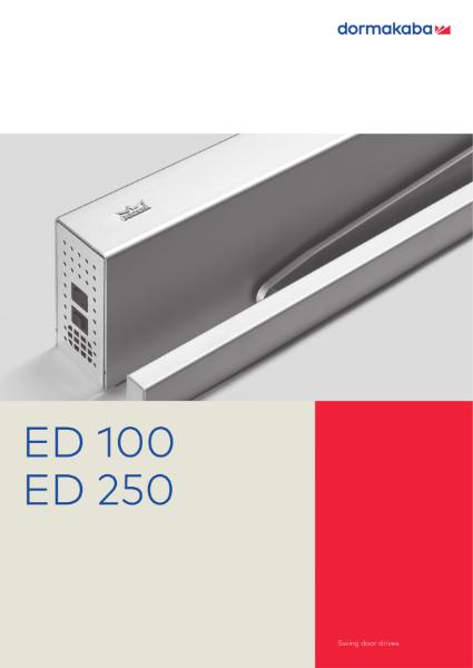 ED 100 A - 250 A - Automatic Swing Door Operators
