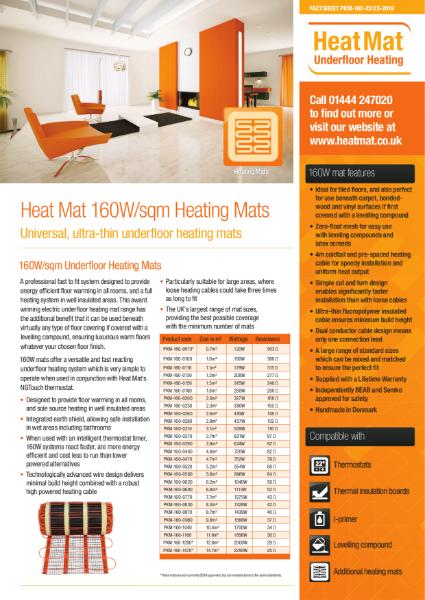 Underfloor Heating Mats Datasheet