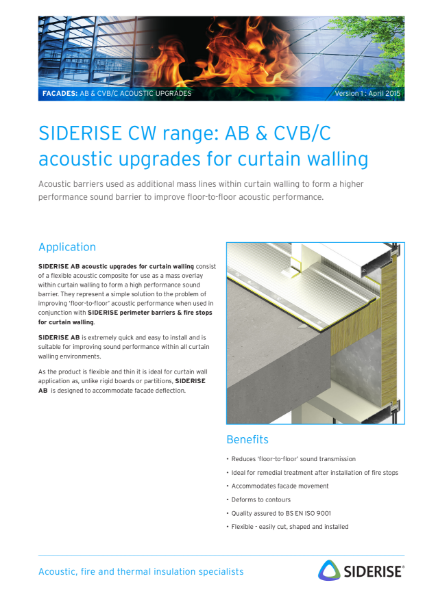 Acoustic barriers for curtain walling v1