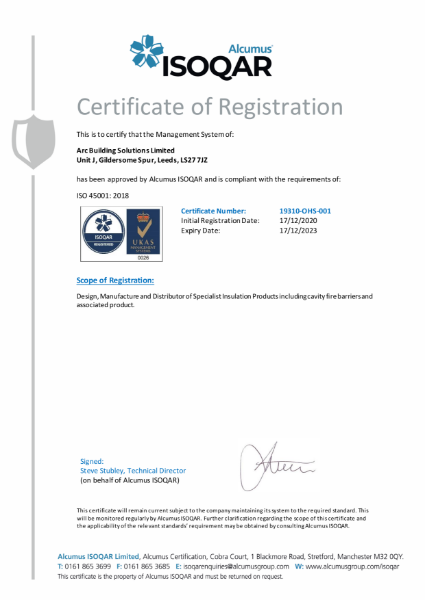 ISO 45001 Occupational Health & Safety Management Certificate