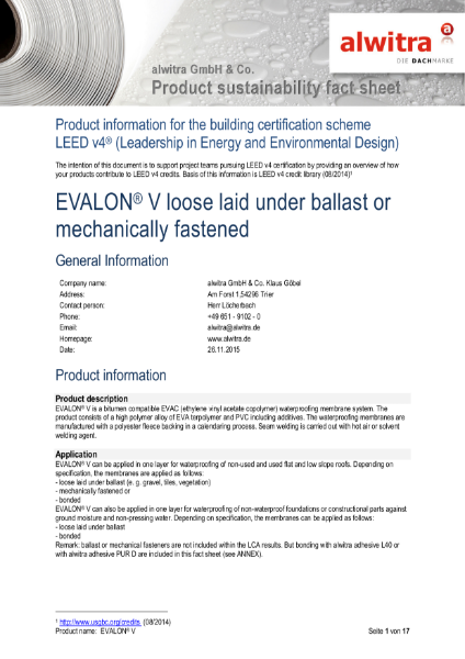 LEED Certification Evalon V