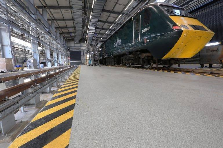 Great Western Railway - F. Ball products keep contractors on track at Great Western Railway train depot