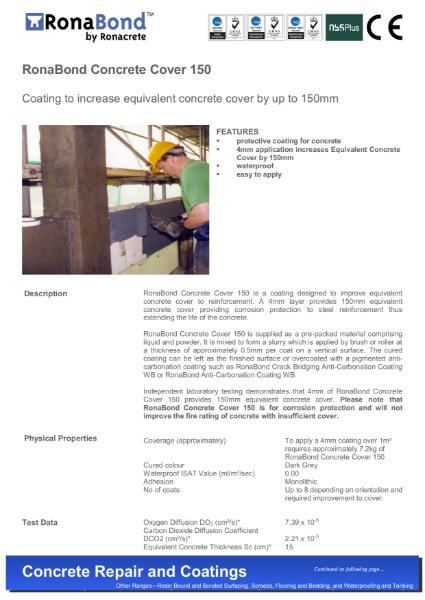 RonaBond Concrete Cover 150