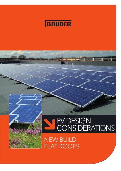 PV Design Considerations - New Build - Bauder