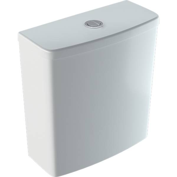 Selnova Square exposed cistern, close-coupled, dual flush, bottom water supply connection