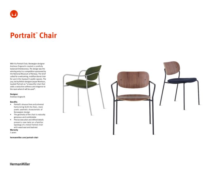 Portrait Chair - Product Sheet