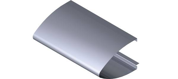 Elliptical Aluminium Fascia Profile