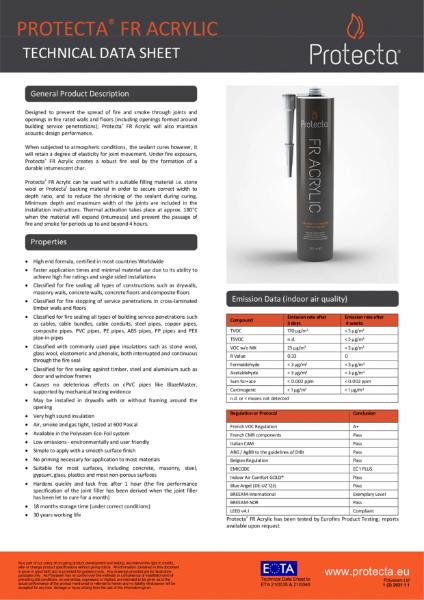 FR Acrylic - Fire Rated Sealant