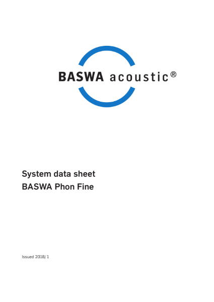 Smooth acoustic plaster ceiling -  BASWA Phon Fine