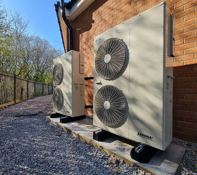 Caerphilly Council go green with Aerona³ heat pumps