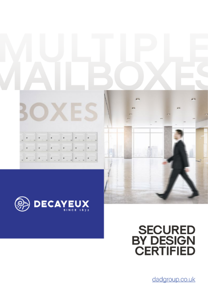 MULTIPLE MAILBOXES - SECURED BY DESIGN