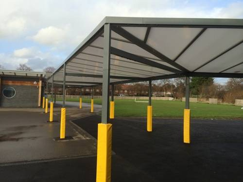 Roding Primary School - Wall Mounted Canopy