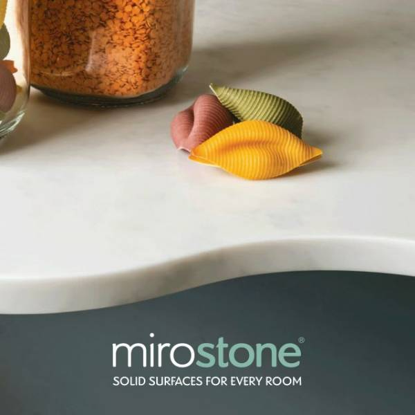 Mirostone Worksurfaces: Worktop with Single End Panel