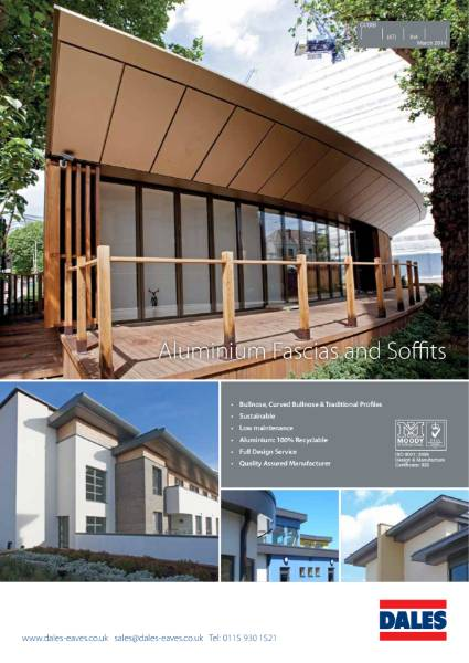 Aluminium Fascias and Soffits: Aluminium Eaves Systems