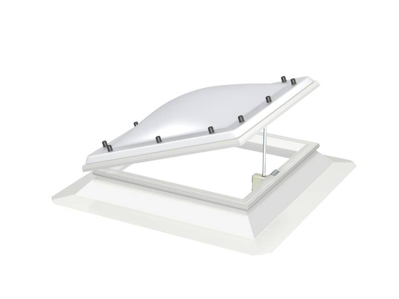 CVJ Vented, Flat Roof Base Unit with Polycarbonate Dome Cover
