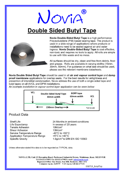 Novia Double Sided Butyl Tape