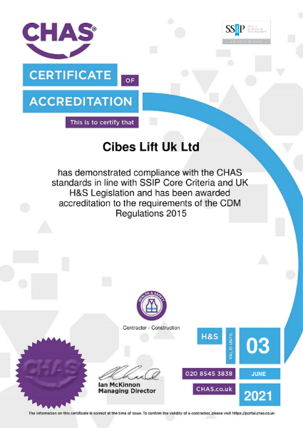 CHAS Certificate 2021