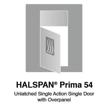 HALSPAN® Prima 54 mm Internal Fire Rated Door Blank - Unlatched Single Acting Double Doors With Overpanel
