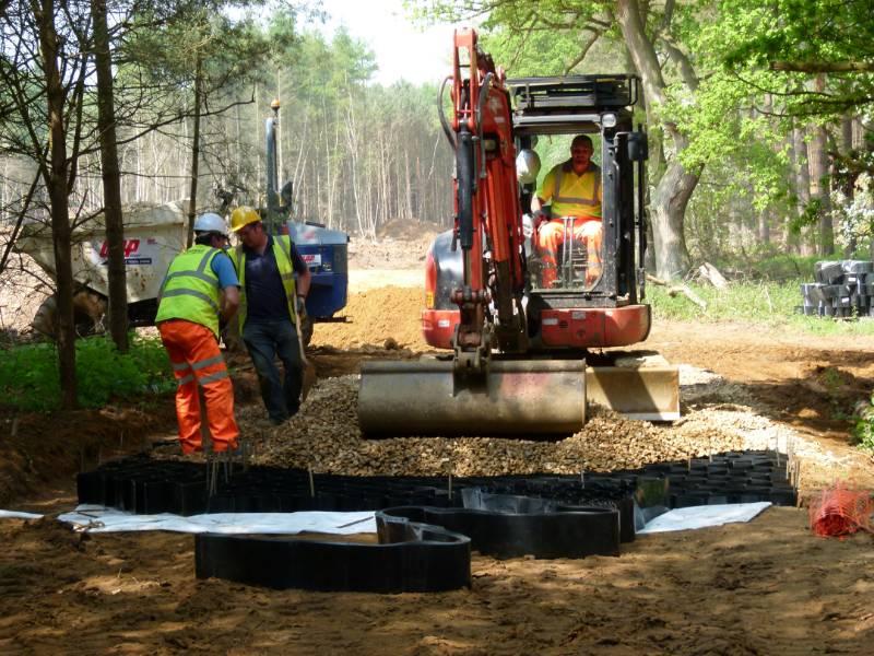 Tree Root Protection, Woodland Access, Abweb TRP, Center Parcs, Woburn, UK