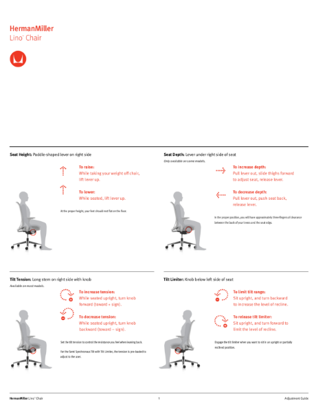 Lino Chair - Adjustment Guide