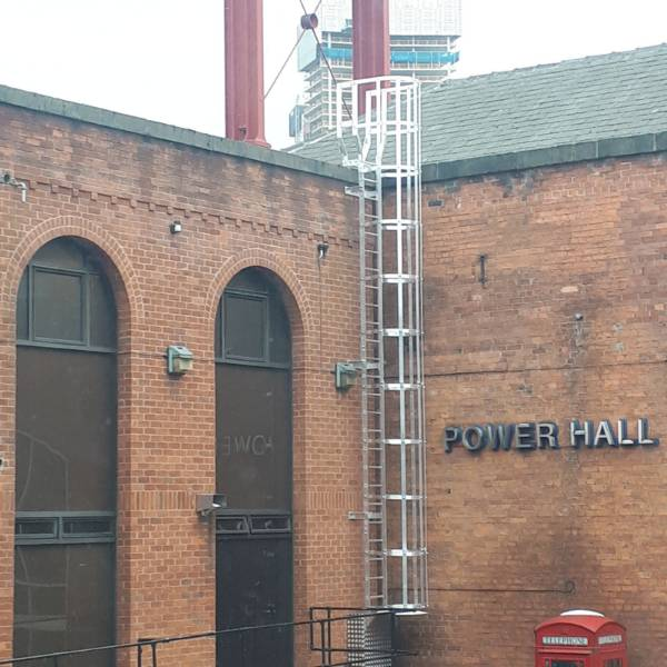 Fixed utilitarian access system - fixed access ladder to Museum of Science & Industry - Manchester
