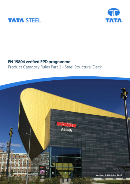 EPD PCR Part 2 - Structural Steel Deck