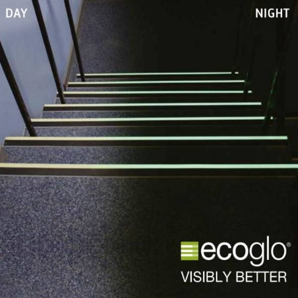 Ecoglo Photoluminescent Stair Nosing/ Stair Edging tread